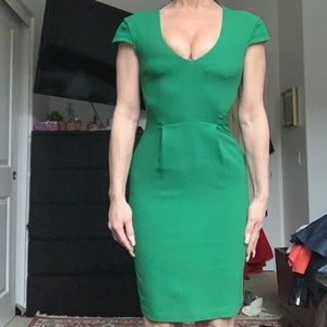 Green business formal casual dress